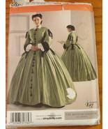 Misses 1860s Civil War Southern Belle size 8 10 12 14 Simplicity Pattern... - $11.00