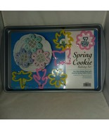 New Spring Cookie Baking Set Non Stick Sheet 6 Cookie Cutters G and S Metal USA - $18.99