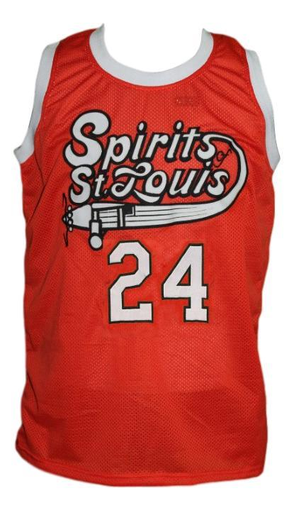 Marvin barnes  24 st louis retro aba custom basketball jersey orange   1