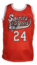 Marvin Barnes #24 Spirits of St Louis Aba Basketball Jersey Sewn Orange Any Size image 1