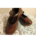 Dansko 10 41 Wome Clog Mary Jane Oxford Brown Leather Low Heel Shoe Care... - $22.03