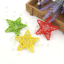 10Pcs Braided Star Christmas Xmas Party Props Hanging Decor Ornaments Ra... - £2.04 GBP