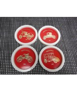 Old Vtg AUTOMOBILE DRINK GLASS COASTERS Packard Ford Motel Rambler Ford ... - $19.79
