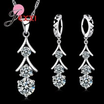Top Quality 925 Sterling Silver Cubic Zirconia Tassel Drop Necklace Crys... - $13.21