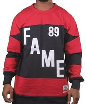 Hall Of Fame Hof Bauer Marine Rouge #89 Col Rond Manches Longues Sweat Nwt