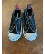 Converse All-Star Boys Size 10 Lace Free Black Red EUC - $18.80