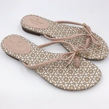 Kate Spade Flip Flops Size 9 Beige White Thong Sandals Womens - $39.60