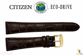 Citizen AT1183-07A Eco-Drive 23mm Brown Leather Watch Band H144M-S068371 - $84.95