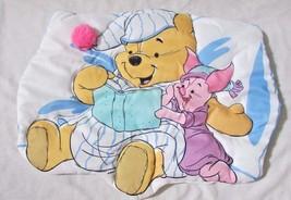 Winnie the Pooh fabric plush padded wall hanging Piglet pajamas baby roo... - $9.89
