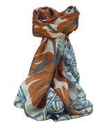 Mulberry Silk Contemporary Square Scarf Damodar Grey by Pashmina & Silk - $26.59