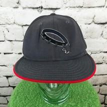 New Era Gonzaga Bulldogs Mens Sz 7 3/8 Hat Gray Flat Bill Fitted Ball Cap - £11.91 GBP