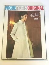 Vogue Paris Original Sewing Pattern Patou Winter Dress Coat 2029 Sz 14 U... - $33.99