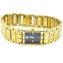 Seiko 1N00-6C09 Gold Tone Stainless Rectangle Diamond Accent Quartz Wristwatch image 7
