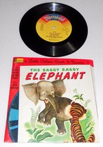 1976 Disneyland Little Golden Book Record The Saggy Baggy Elephant 201 - $3.95