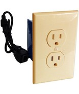 Self Recording 120V Hardwired Outlet Hidden Spy Nanny Camera Beige - €341,90 EUR