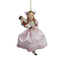 KURT S. ADLER CLARA HOLDING NUTCRACKER IN PINK DRESS CHRISTMAS TREE ORNA... - $10.88