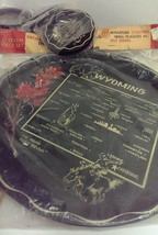Wyoming State Decorator Tray and Coaster 7 pc set Unopened Made in USA - $9.89