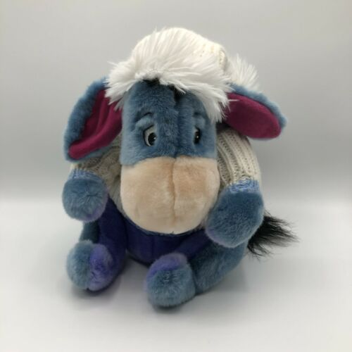 "Primary image for Disney Eeyore Plush White Winter Hat & Sweater Size 13"" Disney Store Exclusive"