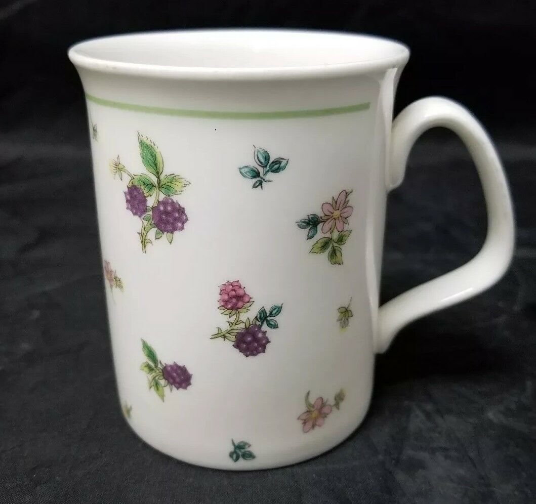 Primary image for Expressions English Bone China Coffee Mug Cup Staffordshire England White Berrie