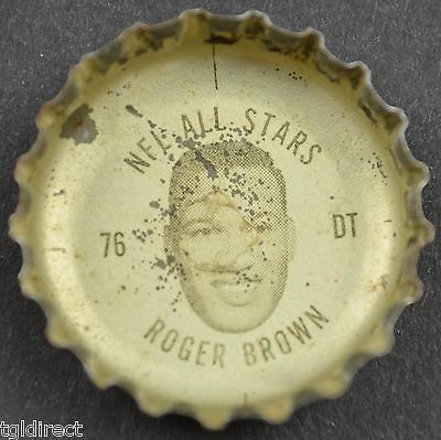 Primary image for Coca Cola NFL All Star Bottle Cap Detroit Lions Roger Brown Coke King Size Soda