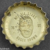 Coca Cola NFL All Star Bottle Cap Detroit Lions Roger Brown Coke King Si... - $6.99