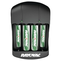 RAYOVAC PS134-4B GEN Value Charger with 2 AAA & 2 AA Ready-to-Use Rechargeable B - $30.47