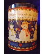 Little Dutch Boy Bakery Shortbread Cookies Collectors Tin - Snowmen - $7.59