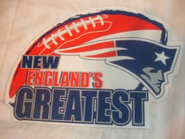 NEW ENGLAND PATRIOTS New England's Greatest Logo Football NFL Car Magnet... - $7.98