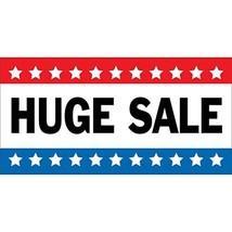 HALF PRICE BANNERS | Huge Sale Vinyl Banner -Indoor/Outdoor 2X4 Foot -Stars | In image 1
