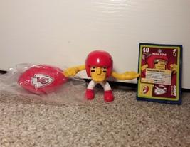 Kansas City Chiefs Player w/FOOTBALL McDonalds Happy Meal Toy NFL Rush Zone - $8.99