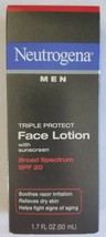 Neutrogena Men Triple Protect Face Lotion with Sunscreen SPF 20 1.70 oz ... - $9.65