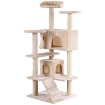"52"" Cat Scratching Post and Ladder Kitten Tower Tree -Beige - £50.29 GBP"