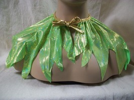 Green Pixie Cape Costume Capelet Fairy Collar Tinker Bell Renaissance Fo... - $13.25