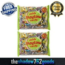 Tootsie Playtime Candy Mix Rolls Pops Fruit Chews Mini-Dots 4.75 lbs Bag 2-PACK - $34.29