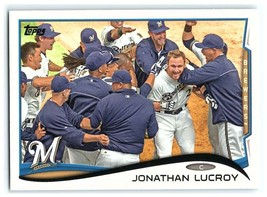 2014 Topps #285 Jonathan Lucroy NM-MT Brewers - $0.75