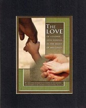 The Love of a Father 8 x 10 Inches Biblical/Religious Verses set in Double Bevel - $11.14
