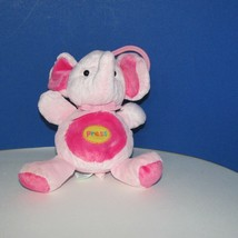 Carters Child of Mine Pink plush elephant music lights hanging clip rock a bye  - $16.03