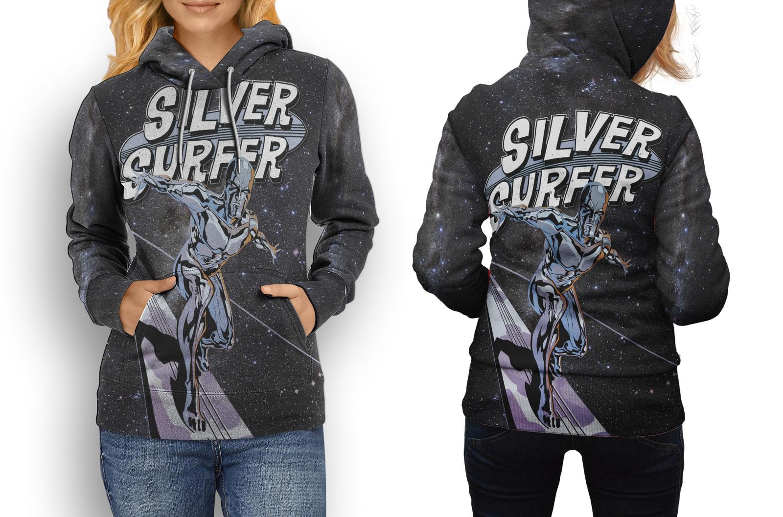 Hoodie women silver surfer