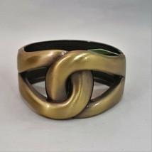 GORGEOUS FASHION HINGED BRACELET GOLD TONE , SILVER TONE, BRASS TONE  - $9.99