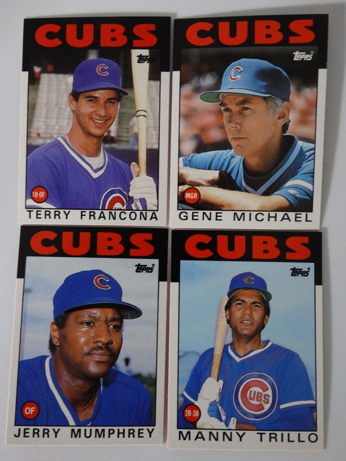 1986 Topps Traded Chicago Cubs Team Set Of 4 And 50 Similar Items