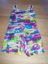 Size XS Future Star Capezio Tie Dye Gymnastics Unitard Leotard Peace Sig... - $17.00