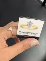 Pear Diamond Engagement Ring Soliatire 0.50ct 14k Yellow Gold BHS Uk Siz... - $1,089.22