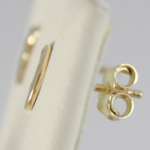 Yellow Gold Earrings 750 18k with moons, moon, Long 0.7 cm, with Zirconia image 2