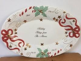 Vtg Lenox Holiday Tidings Moore Family Christmas Platter Ceramic Serving Plate - $1,000.00