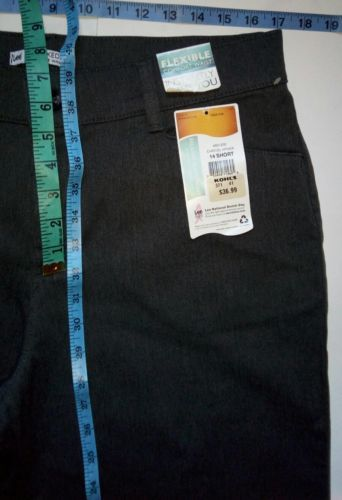 Lee Relaxed Fit at the Waist Womens Size 14 Short Grey Denim Jeans Pants (34x32) image 12