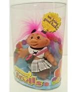 Original Good Luck Troll DAM Doll 2006 New NOS 63800 Pink Hair Skull Pla... - $29.69