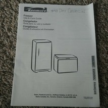 Kenmore Heavy Duty Commercial Freezer Use & Care Guide Owners Instruction Manual - $1.97
