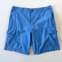 Izod Mens Light Weight Cargo Shorts 38 Sky Blue - $13.08