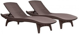 Keter Pacific 2-Pack All-weather Adjustable Outdoor Patio Chaise Lounge ... - $761.55