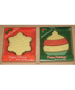 Chocolate Candy Ornament and Snowflake in Holiday Christmas Packages Lot... - $2.00